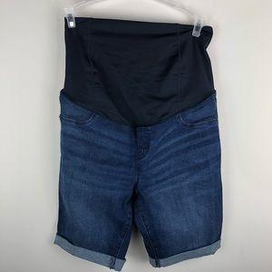 Isabel Maternity Bermuda Cuff Shorts 8 A918